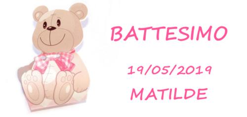 Etichetta Battesimo – Orsetto rosa marmellata bomboniera