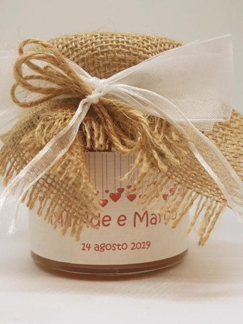 Bomboniera matrimonio - marmellata di mirtillo CUORI