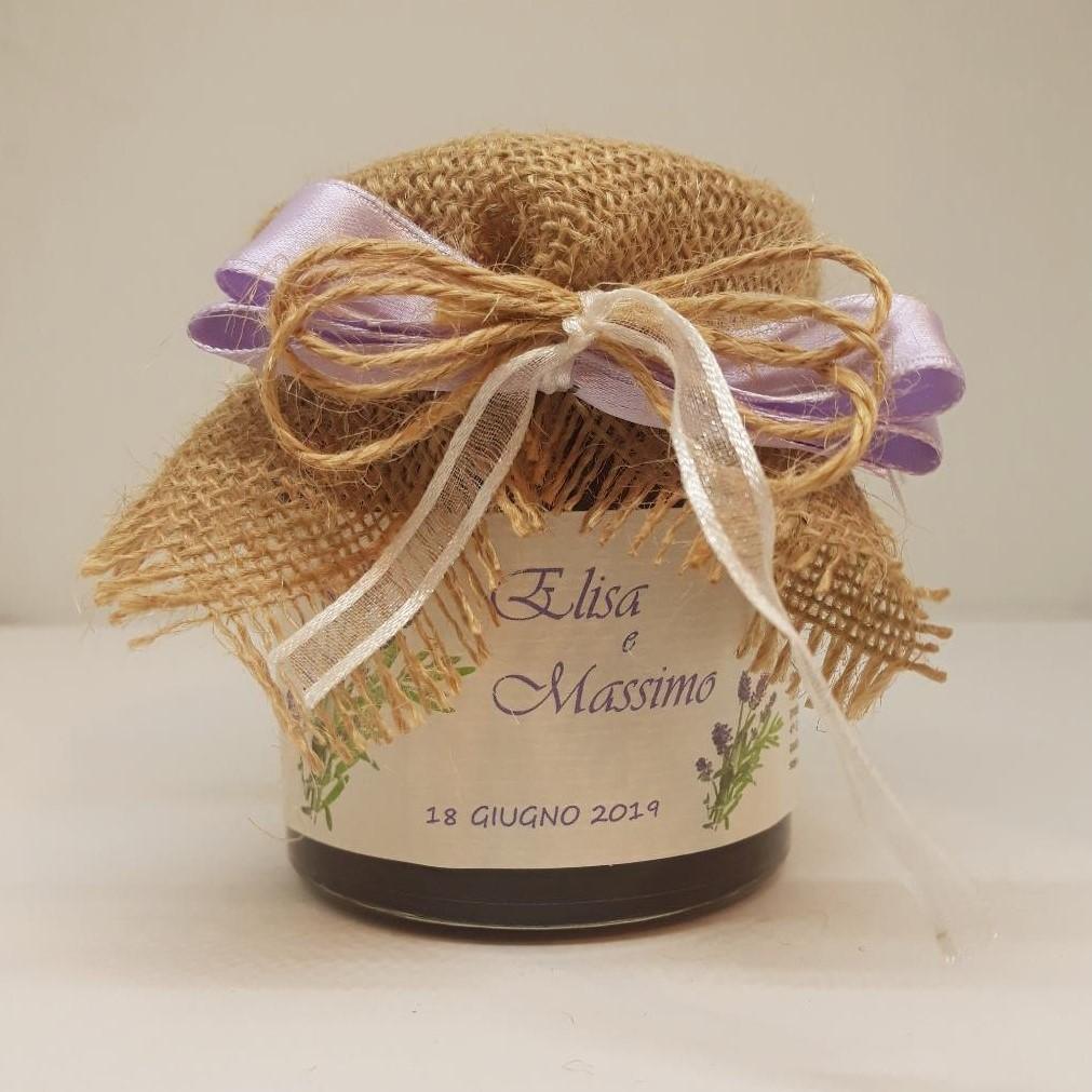 Bomboniera matrimonio - marmellata di lampone lavanda