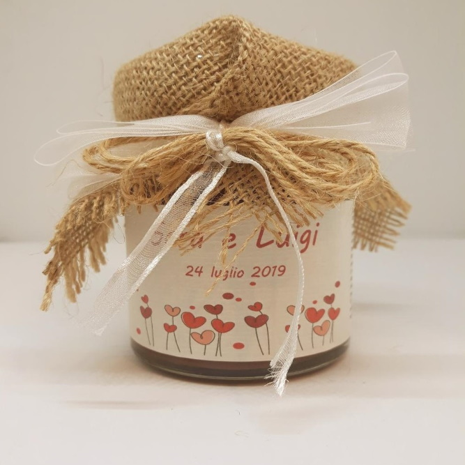 Bomboniera matrimonio - marmellata di lampone - CUORICINI